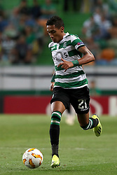 September 20, 2018 - Lisbon, Portugal - Sporting's forward Raphinha from Brazil in action during the UEFA Europa League Group E football match Sporting CP vs Qarabag at Alvalade stadium in Lisbon, on September 20, 2018. (Credit Image: © Pedro Fiuza/NurPhoto/ZUMA Press)
