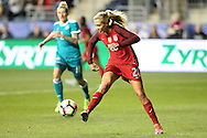 CHESTER, PA - MARCH 01: Allie Long (USA). The United States Women's National Team played the Germany Women's National Team as part of the She Believes Cup on March 1, 2017, at Talen Engery Stadium in Chester, PA. The United States won the game 1-0.