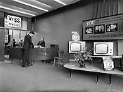 17/05/1962<br /> 05/17/1962<br /> 17 May 1962<br /> Interior and exterior view of Vision and Sound Television Centre premises at Rathmines, Dublin. View of interior of the store with view of rentals desk and advertisement with sets on display.