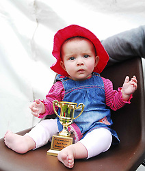 6 months old Ava Alana Vilarino from Ballyheane won the bonny baby competition at the Tourmakeady Show...Pic Conor McKeown
