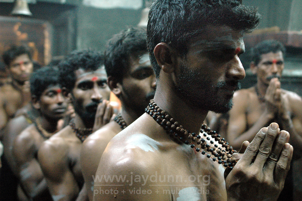 India, Gokarna, 2006. This Hindu ritual honoring Ganesh, the elephant-headed god of good fortune, lasts for 24 hours.