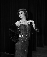 Alexa Lowis on stage as Fanny Brice in Funny Girl with the Interlakes Summer Theater.   Karen Bobotas for the Laconia Daily Sun.