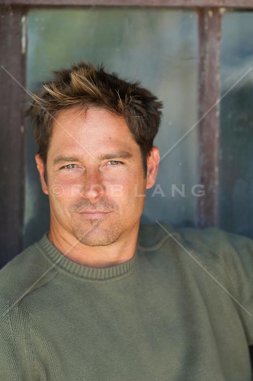 good looking All American man with Hazel eyes