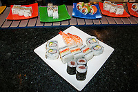 Sushi on offer in a restaurant, Cape Town, South Africa