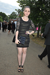 LILY COLLINS daughter of Phil Collins at the annual Serpentine Gallery Summer Party sponsored by Canvas TV  the new global arts TV network, held at the Serpentine Gallery, Kensington Gardens, London on 9th July 2009.