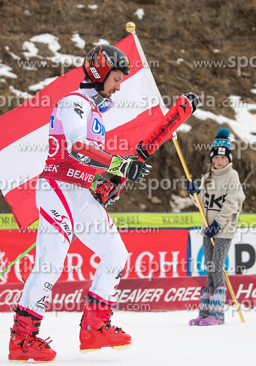 03.12.2017, Beaver Creek, USA, FIS Weltcup Ski Alpin, Beaver Creek, Riesenslalom, Herren, Siegerehrung, im Bild Marcel Hirscher (AUT, 1. Platz) // race winner Marcel Hirscher of Austria during the winner Ceremony for the men's Giant Slalom of FIS Ski Alpine World Cup in Beaver Creek, United Staates on 2017/12/03. EXPA Pictures © 2017, PhotoCredit: EXPA/ Johann Groder