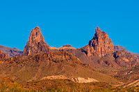 The Mule Ears Peaks, Chihuahuan Desert, Big Bend National Park, Texas USA.
