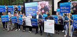 June 2, 2017 - London, London, United Kingdom - Image licensed to i-Images Picture Agency. 02/06/2017. London, United Kingdom.  Kingston Liberal Democrat  candidate Sir Edward Davey leads a demonstration against Theresa May's ' Dementia Tax'  in Westminster, London.  Picture by Elliott Franks / i-Images (Credit Image: © Elliott Franks/i-Images via ZUMA Press)