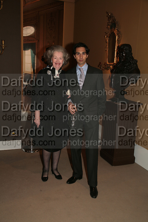 Raine Countess Spencer and Amin Jaffer, Raine Countess Spencer, private view of The Alberto Bruni Tedeschi Collection -  Sotheby's,19 March 2007.  -DO NOT ARCHIVE-© Copyright Photograph by Dafydd Jones. 248 Clapham Rd. London SW9 0PZ. Tel 0207 820 0771. www.dafjones.com.