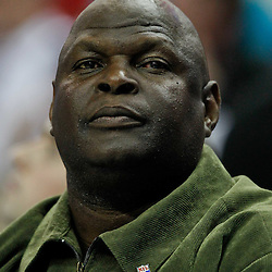 January 23, 2012; New Orleans, LA, USA; NFL hall of fame linebacker Rickey Jackson in attendance during the second half of a game between the New Orleans Hornets and the San Antonio Spurs at the New Orleans Arena. The Spurs defeated the Hornets 104-102.  Mandatory Credit: Derick E. Hingle-US PRESSWIRE