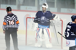 28.08.2015, Dom Sportova, Zagreb, CRO, KHL League, KHL Medvescak vs Admiral Vladivostok, 2. Runde, im Bild Danny Taylor. // during the Kontinental Hockey League, 2nd round match between KHL Medvescak and Admiral Vladivostok at the Dom Sportova in Zagreb, Croatia on 2015/08/28. EXPA Pictures © 2015, PhotoCredit: EXPA/ Pixsell/ Goran Jakus<br /> <br /> *****ATTENTION - for AUT, SLO, SUI, SWE, ITA, FRA only*****