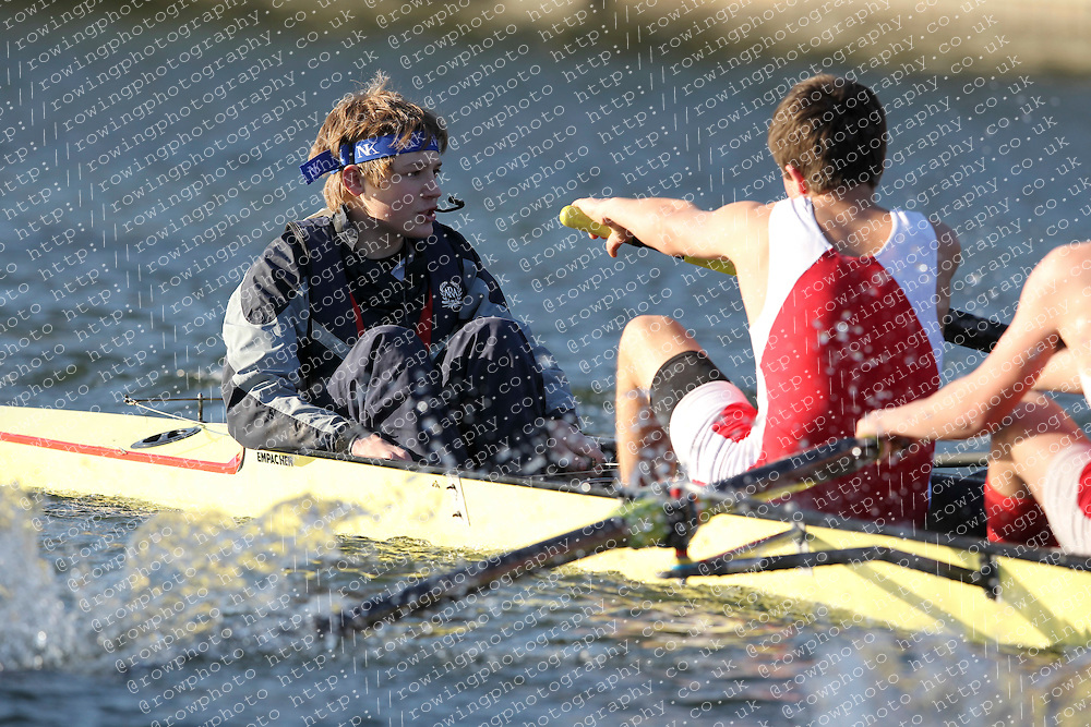 2012.02.25 Reading University Head 2012. The River Thames. Division 2. Radley College Boat Club B J16A 8+