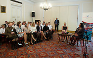 (L) Wife of Monaco's Prince Albert II, Princess Charlene of Monaco and (R) Anna Komorowska - Polish First Lady attend a meeting with participants of Special Olympics in Belwedere palace in Warsaw on October 17, 2012..The mission of Special Olympics is to provide sports training and athletic competition for children and adults with intellectual disabilities...Poland, Warsaw, October 17, 2012..Picture also available in RAW (NEF) or TIFF format on special request...For editorial use only. Any commercial or promotional use requires permission...Photo by © Adam Nurkiewicz / Mediasport