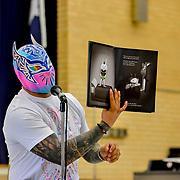 WWE Sin Cara Visits Bonham Elementary
