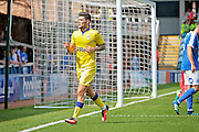 Leeds No 10 Alex Mowatt celebrating scoring the first goal in the Pre-Season Friendly match between Peterborough United and Leeds United at London Road, Peterborough, England on 23 July 2016. Photo by Nigel Cole.