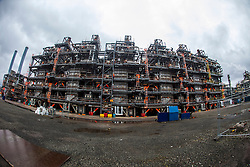 Touring the KG Cracker area.<br /> INEOS Grangemouth plant as part of an INEOS Media Trip.