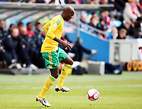 Fotball , 10. oktober 2009 , Privatkamp , Norge - Sør-Afrika<br /> Norway - South-Africa 1-0<br /> <br /> Morgan Gould , Sør-Afrika