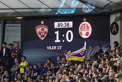 Scoreboard during football match between NK Maribor and Hapoel Beer-Sheva in Second leg of UEFA Champions League playoff round, on August 22 2017 in Ljudski vrt, Maribor, Slovenia. Photo by Morgan Kristan / Sportida