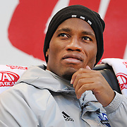HARRISON, NEW JERSEY- November 06:  Didier Drogba #11 of Montreal Impact on the bench before the start of the New York Red Bulls Vs Montreal Impact MLS playoff match at Red Bull Arena, Harrison, New Jersey on November 06, 2016 in Harrison, New Jersey. (Photo by Tim Clayton/Corbis via Getty Images)