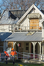 Christchurch-Fire investigators at gutted Risingholme historic building