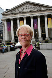 UK ENGLAND LONDON 21AUG12 - Susanne Schmidt, author and daughter of former German chancellor Helmut Schmidt poses for pictures in the city of London...Susanne Schmidt holds a PhD in national economy and has worked for over 30 years in the City of London, first as key accountant manager in credit business, then in research of an investment bank, later as anchor-woman for financial service provider Bloomberg Television...jre/Photo by Jiri Rezac..© Jiri Rezac 2012