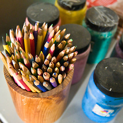 Paints and pencils