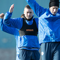 St Johnstone Training….04.11.16<br />Tam Scobbie pictured during training this morning after a long injury lay-off<br />Picture by Graeme Hart.<br />Copyright Perthshire Picture Agency<br />Tel: 01738 623350  Mobile: 07990 594431