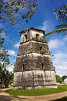 Philippines, archipel des Visayas, île de Bohol, Panglao, clocher de l eglise Saint Augustine. // Philippines, Visayas islands, Bohol island, panglao, St. Augustine church.
