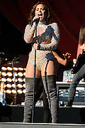 Photo of Demi Lovato performing live on stage at Global Citizen Festival in Central Park, NYC on September 24, 2016. © Matthew Eisman. All Rights Reserved