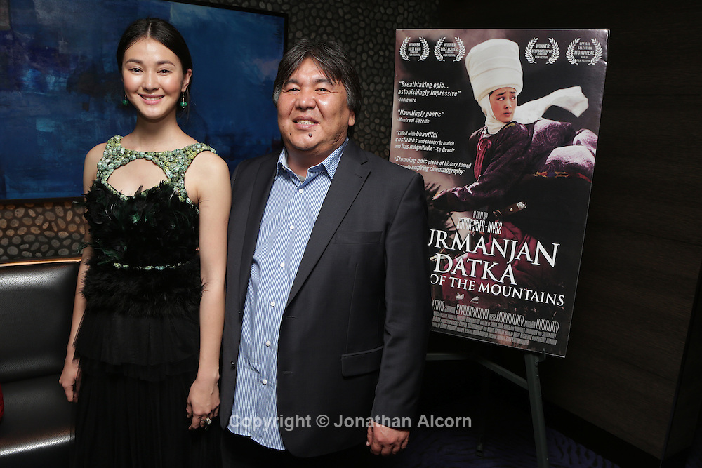Actress Elina Abai Kyzy and Director Sadyk Sher-Niyaz at The Wrap's screening of Kurmanjan Datka Queen of the Mountains at the iPic  in Los Angeles on December 4, 2014