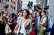 Roma 2 Ottobre 2013<br /> Nunzia De Girolamo ministro dell'Agricoltura, lascia il Senato dopo il voto di fiducia<br /> Nunzia De Girolamo Minister of agriculture Politics  leaves  the Upper House after  the confidence vote