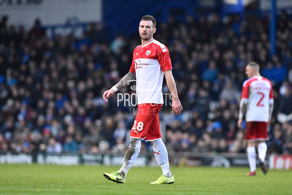 Michael Sollbauer (18) of Barnsley during the The FA Cup match between Portsmouth and Barnsley at Fratton Park, Portsmouth, England on 25 January 2020.