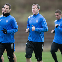 St Johnstone Training...10.01.14<br /> Frazer Wright and Gary McDonald pictured during training this morning ahead of tomorrow's game against St Mirren.<br /> Picture by Graeme Hart.<br /> Copyright Perthshire Picture Agency<br /> Tel: 01738 623350  Mobile: 07990 594431