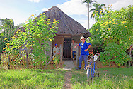 Thatched house in Vista Alegre, Holguin, Cuba.