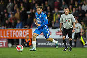 Peterborough United midfielder Jon Taylor on the ball during The FA Cup match between Burton Albion and Peterborough United at the Pirelli Stadium, Burton upon Trent, England on 7 November 2015. Photo by Aaron Lupton.