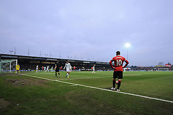 Manchester United's Wayne Rooney lines up a free kick  - Photo mandatory by-line: Joe meredith/JMP - Mobile: 07966 386802 - 04/01/2015 - SPORT - football - Yeovil - Huish Park - Yeovil Town v Manchester United - FA Cup - Third Round