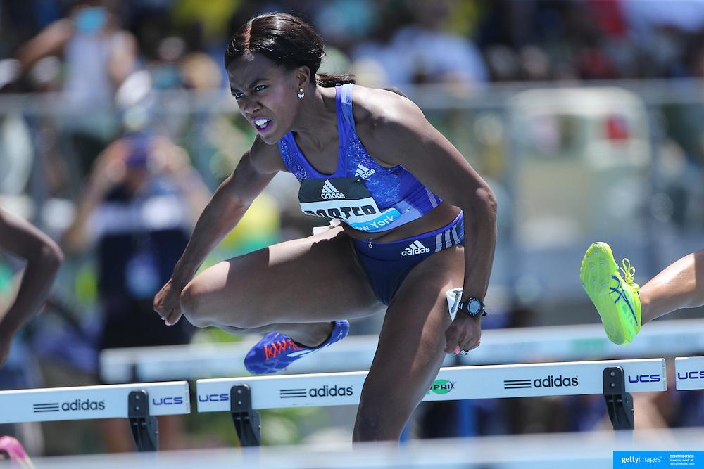 Tiffany  Porter, Great Britain, in action in the Women's 100m Hurdles during the Diamond League Adidas Grand Prix at Icahn Stadium, Randall's Island, Manhattan, New York, USA. 13th June 2015. Photo Tim Clayton