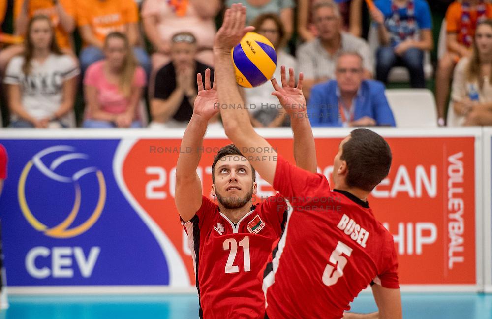 24-09-2016 NED: EK Kwalificatie Nederland - Wit Rusland, Koog aan de Zaan<br /> Nederland verliest de eerste twee sets / Artsiom Haramykin #21