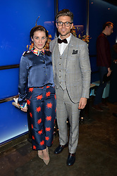 Actress VICKY McCLURE and DARREN KENNEDY at a dinner hosted by Anya Hindmarch and Dylan Jones to celebrate the end London Collections: Men 2014 held at Hakkasan, 8 Hanway Place, London on 8th January 2014.