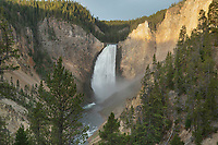 Lower Falls of the Yellowstone River  seen from Red Rock Point, Yellowstone National Park