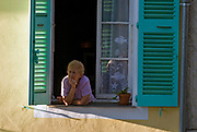 Woman in Lorgues, Provence, France.