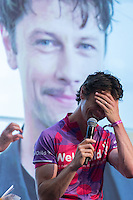 LONDON UK 28TH JULY 2016:  Leon Ockenden, known to soap fans as Coronation Street's Will Chatterton . The Prudential RideLondon Cycling Show at the Excel Centre. Prudential RideLondon in London 29th July 2016<br /> <br /> Photo: Neil Turner/Silverhub for Prudential RideLondon<br /> <br /> Prudential RideLondon is the world's greatest festival of cycling, involving 95,000+ cyclists – from Olympic champions to a free family fun ride - riding in events over closed roads in London and Surrey over the weekend of 29th to 31st July 2016. <br /> <br /> See www.PrudentialRideLondon.co.uk for more.<br /> <br /> For further information: media@londonmarathonevents.co.uk