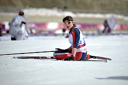 KARLSEN Marie competing in the Nordic Skiing XC Long Distance at the 2014 Sochi Winter Paralympic Games, Russia