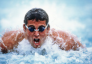 MISSION VIEJO, CA -  JUNE 1988:  Matt Biondi of the USA competes in a butterfly event during the Meet of Champions held in Mission Viejo, California in June 1988.  (Photo by David Madison/Getty Images)