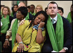 June 14, 2018 - London, United Kingdom - Mourners attend the one year  anniversary memorial of the Grenfell Tower fire, in remembrance of the 72 victims who lost their lives.  (Credit Image: © Erica Dezonne/i-Images via ZUMA Press)