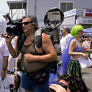 New York. Parade in Coney island. Mermaid parade in Coney island , Brighton beach  new york  Usa / parade des sirènes Coney island Brighton beach, parade deguisee humoristique  new york  Usa
