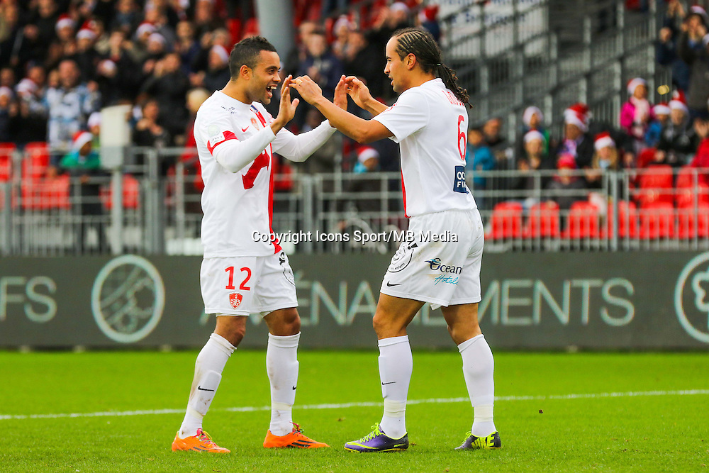Joie Bruno GROUGI  - 20.12.2014 - Brest / Ajaccio - 18eme journee de Ligue 2 <br /> Photo : Vincent Michel / Icon Sport