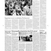 "Tearsheet of ""US homeland security at Shannon Airport"" published in The International Herald Tribune"