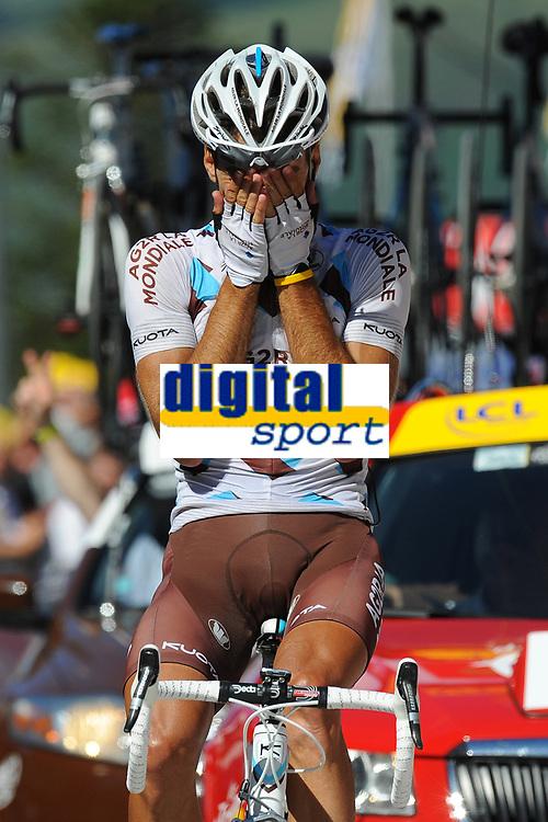 CYCLING - TOUR DE FRANCE 2010 - AX 3 DOMAINES (FRA) - 18/07/2010 - PHOTO : VINCENT CURUTCHET / DPPI - <br /> STAGE 14 - REVEL > AX 3 DOMAINES - CHRISTOPHE RIBLON (FRA) / AG2R LA MONDIALE / WINNER