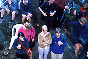 People standing and sitting, drinking, Quart festival, Kristiansands Norway 2000